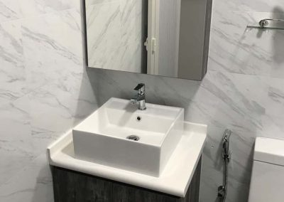 Bright Grey and White Toilet